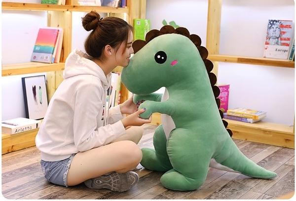 【50公分】羽絨棉 愛撒嬌恐龍玩偶 毛絨娃娃 聖誕節交換禮物 商店布置 節慶用品 情人節禮物