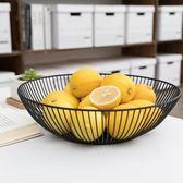 聚可愛 北歐簡約水果籃家用鐵藝水果盤客廳零食盤創意家居收納籃 櫻桃