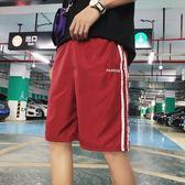 新款寬鬆運動褲青少年薄款休閒短褲百搭沙灘褲男士潮流五分褲