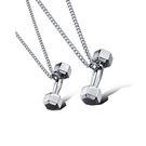 【5折超值價】  【316L西德鈦鋼】最新款潮流歐美風格個性啞鈴造型情侶款鈦鋼項鍊