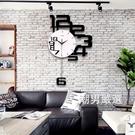 掛鐘北歐家用大氣個性創意靜音掛鐘壁牆鐘錶時尚藝術客廳臥室石英時鐘xw