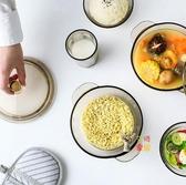 泡麵碗 透明玻璃沙拉碗家用餐具學生泡麵碗可麵碗甜品水果碗