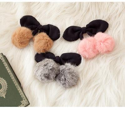 ViVi雜誌Lena用櫻桃兔毛球球髮夾彈簧夾【O2075】Lazy or pretty ☆雙兒網☆