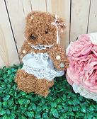 水鑽蕾絲泰迪熊 婚禮小物 新房擺設【皇家結婚用品百貨】