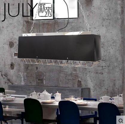 美術燈 個性餐廳吧台創意咖啡廳吊燈現代簡約鐵藝工業風吊燈網罩吊燈-不含光源