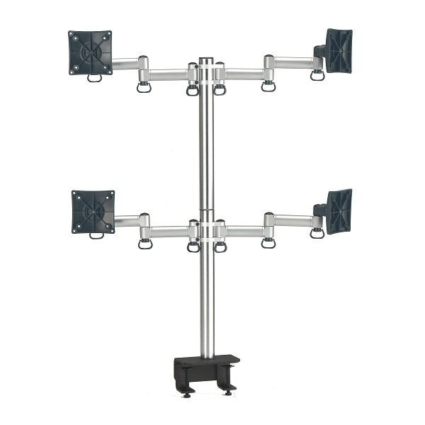 FOGIM 夾桌懸臂式液晶螢幕支架(四螢幕) T
