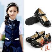 店長推薦皮鞋公主鞋春秋季國中國小女童黑色小皮鞋演出鞋
