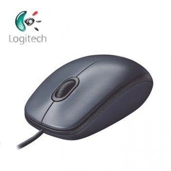 羅技 M90有線滑鼠USB黑灰