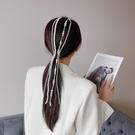 髮夾 LACELIPS同款髪飾珍珠串珠髪夾編髪髪帶超仙少女ins髪卡潮【快速出貨八折下殺】