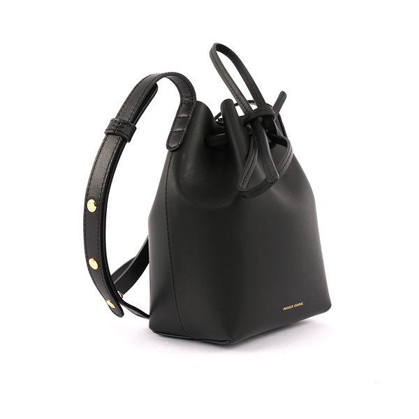 【MANSUR GAVRIEL】水桶包MINI MINI BUCKET(迷你)(黑色/海藍色) HMM010VC