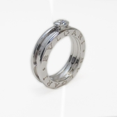 BVLGARI 寶格麗 750白K金單顆圓鑽戒指 B-zero1 D0.30CT 【二手名牌BRAND OFF】