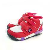 日本月星MOONSTAR 魔鬼氈高筒機能學步鞋 《7+1童鞋》B433 粉色