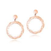 【5折超值價】時尚精美氣質簡約圓圈字母造型女款鈦鋼耳飾