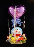 11吋哆啦A夢抱愛心幸福熱氣球,金莎花束/情人節禮物/婚禮佈置/派對慶生,節慶王【Y030017】