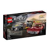 76903【LEGO 樂高積木】speed 賽車系列 - 雪佛蘭C8.R & 1968