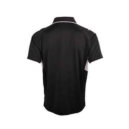 MIZUNO美津濃 男短袖POLO衫 (黑*白) 吸汗速乾 抗紫外線 雙肩MC-LINE