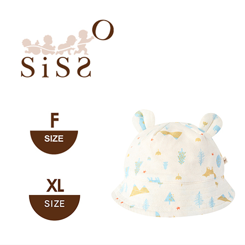 【SISSO有機棉】石虎鴞鴞涼感QQ帽 F XL