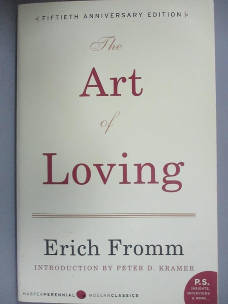 【書寶二手書T1/原文書_OFD】The Art of Loving_Fromm, Erich/ Kramer, Peter D. (INT)