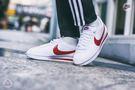 ISNEAKERS Nike Cortez Leather 白紅 皮革 蛇鱗 阿甘 女款807471-108