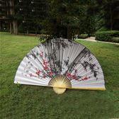 2.2米超大壁掛扇店鋪房裝飾扇中國風裝飾絹布大折扇道具婚紗攝影 js5458『miss洛羽』