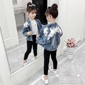 女童牛仔外套-女童牛仔外套秋裝新款兒童裝韓版時髦網紅春秋小女孩洋氣上衣 夏沫之戀