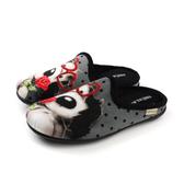Grünland  懶人鞋 休閒鞋 狗狗 灰色 女鞋 CI2203 no001