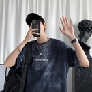 扎染T恤男短袖潮牌ins港風夏季衣服2021新款潮流hiphop炸街上衣