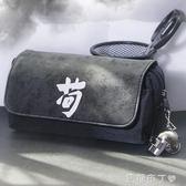 大容量筆袋簡約創意帆布鉛筆盒男孩韓國版男生高中學生大學生用品多功能網紅吃雞 一米陽光