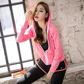 運動上裝-秋冬新款瑜伽服運動上衣女健身房運動寬鬆跑步服拉鏈外套 降價兩天