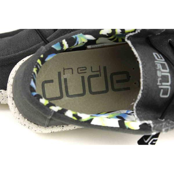 Hey Dude 休閒鞋 帆船鞋 帆布 黑色 男鞋 HD2031-801 no013