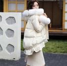 羽絨服 爆款港風棉服韓版寬鬆荷葉邊棉襖中長款棉衣女冬季外套潮 生活主義