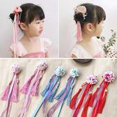 中國風兒童頭飾漢服女童髪夾子古代和風超仙