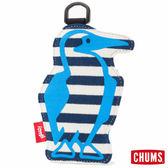 CHUMS 日本 Booby 造型悠遊卡夾 海軍藍條紋/原色藍 CH602012N032