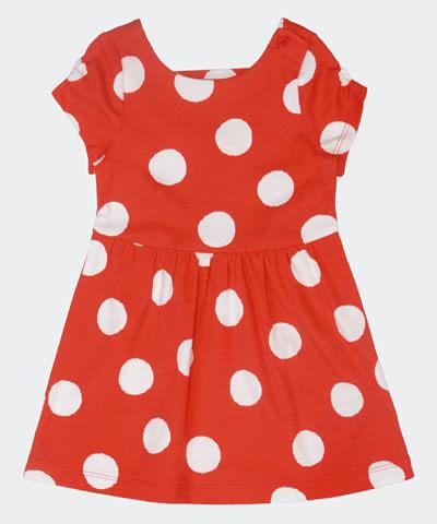 Hallmark Babies 女童春夏長絨純棉波點短袖連身裙 HE1-K03-16-KG-PR