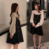 小中大碼M-4XL 法式復古裙微胖穿搭網紅棉花糖女孩顯瘦兩件套套裝女大碼4F120.1616韓依紡