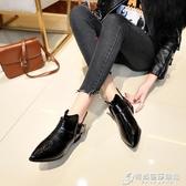 英倫鞋 新款黑色小皮鞋女ins潮鞋春秋季平底單鞋百搭學生復古英倫風 時尚芭莎