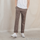 【GIORDANO】男裝素色抽繩休閒長褲-53 咖啡