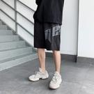 字母印花運動短褲男潮流夏季外穿5分褲子寬松ins潮牌沙灘褲五分褲