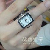 現貨出清簡易悠閒男女戒指錶/情人情侶迷你手錶/韓國迷你百搭飾品 祕密盒子
