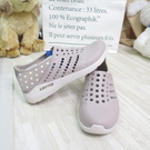 LOTTO 粉點洞洞鞋 女款 中大童 整數碼 輕量 輕便鞋 LT1AWS3681 奶茶色【iSport愛運動】