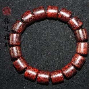精品小葉紫檀桶珠手鏈12mm