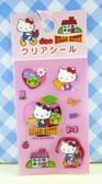【震撼精品百貨】Hello Kitty 凱蒂貓~KITTY貼紙-腳踏車粉