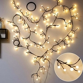 房間臥室裝飾led樹枝藤條彩燈閃燈串燈滿天星星圓球店鋪佈置婚慶ATF 青木鋪子