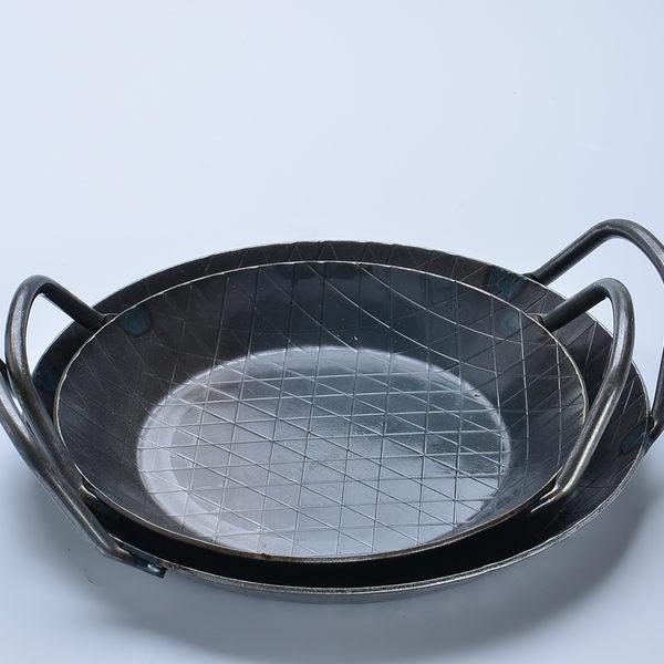 Turk 土克 熱鍛雙耳格紋鐵鍋 16cm 65916 德國製