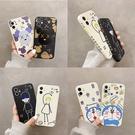 側邊魔方日韓卡通 iphone 12 11 Pro Xs Max XR SE i8 i7 i6sPlus 全包硅膠防摔手機殼