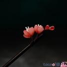 熱賣古風髮飾 梅花簪子宋制漢服頭飾中國風旗袍盤髮木簪簡約紅色花朵髮飾古風【618 狂歡】