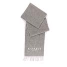【COACH】CC LOGO雙色羊毛圍巾...