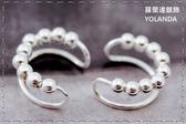 【羅蘭達銀飾】 耳骨夾。925純銀。軟金屬可調式。小銀珠C型造型。街頭風格