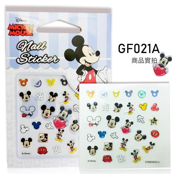 Disney 迪士尼正版美甲貼紙新3D立體加鑽 GF款《Nails Mall美甲彩繪 美睫批發》米妮/米奇