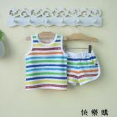 嬰兒衣服夏季男童背心短褲套裝夏天潮
